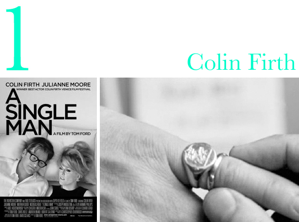 Signet ring on Colin Firth in Tom Ford's A Single Man