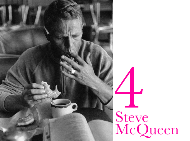 Signet ring on Steve McQueen