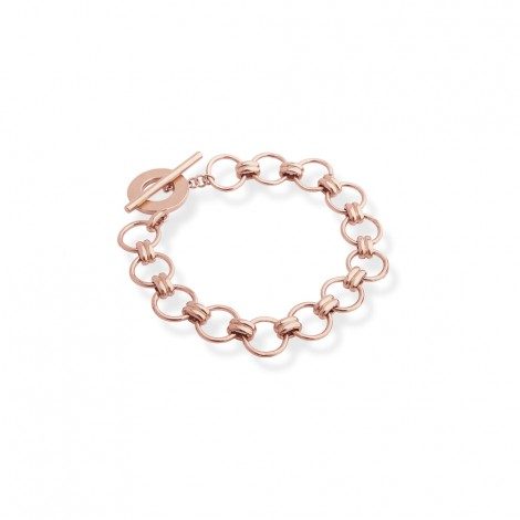 Charm Bracelet in Sterling Silver with a Rose Gold Plate