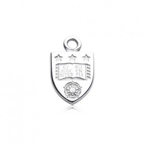 University of Leeds Charm in Sterling Silver
