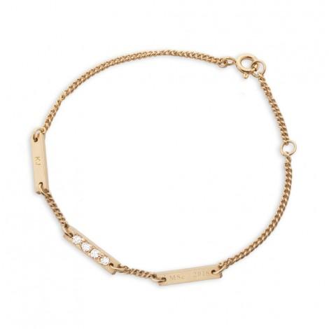 Little Beeline Bracelet in 9ct Yellow Gold