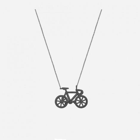 Bicycle Pendant Black Rhodium
