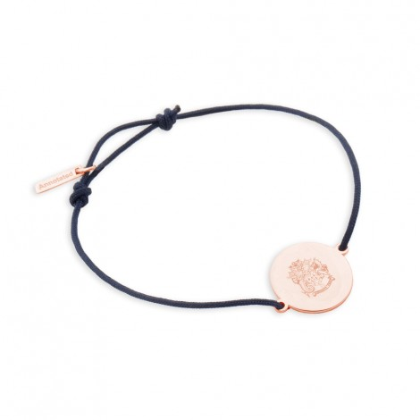 Disc Bracelet #1 in Rose Gold Vermeil on Sterling Silver