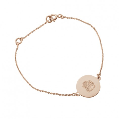 Disc Charm Bracelet #2 Rose Gold Vermeil on Sterling Silver