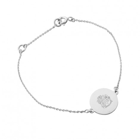 Disc Charm Bracelet #2 in Sterling Silver