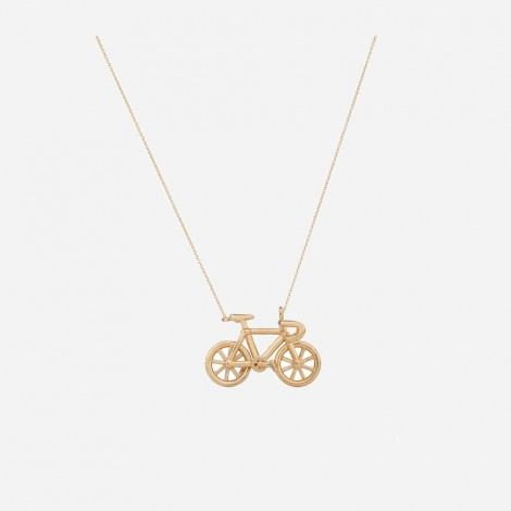 Gold bike pendant eva eva gold vermeil bicycle pendant aloadofball Gallery