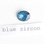 blue zircon stone