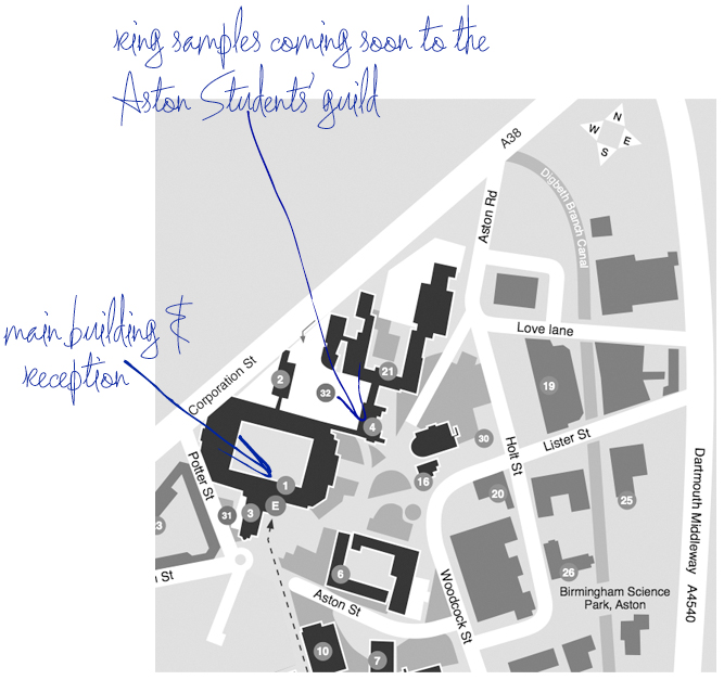 Aston University campus map